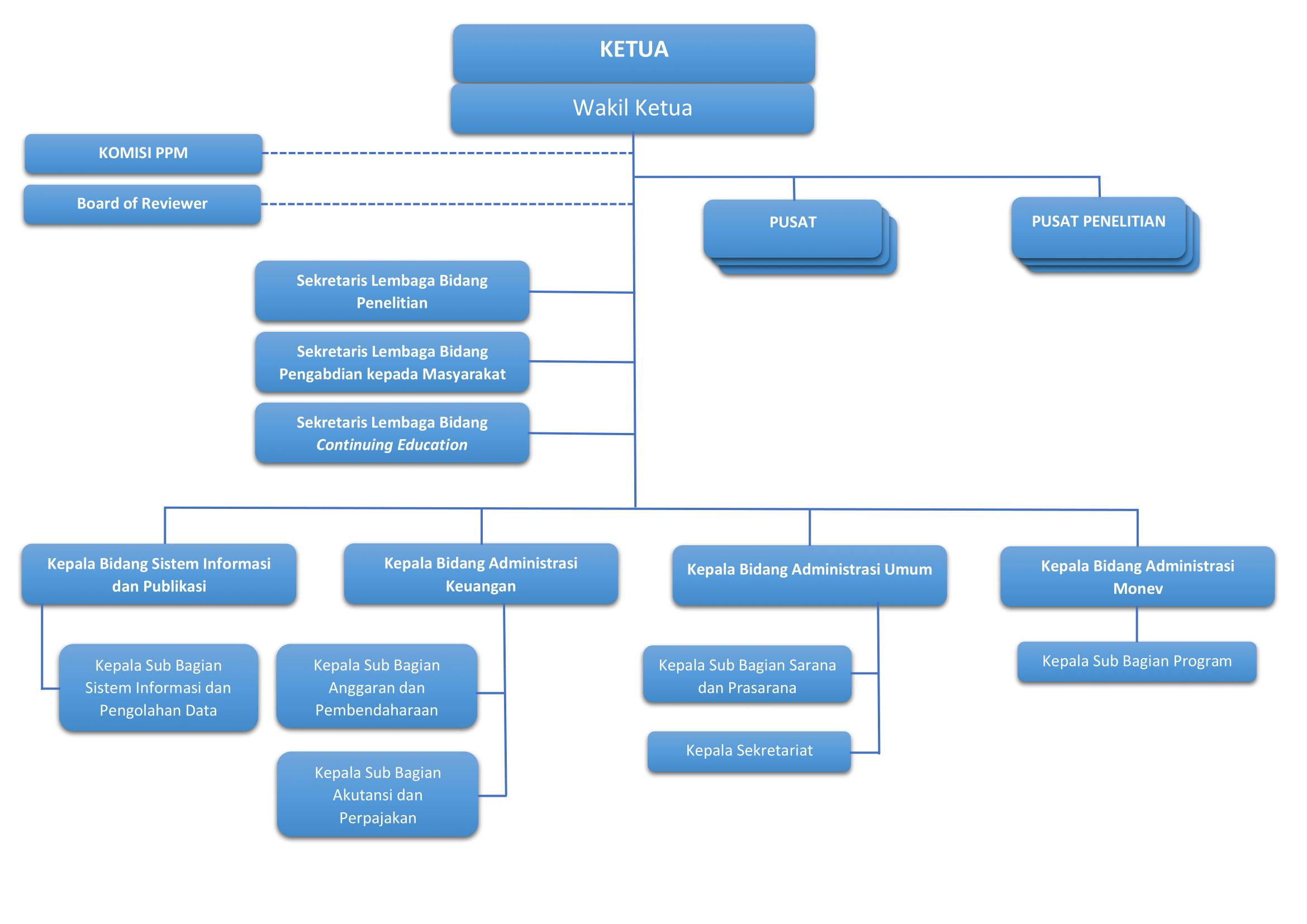 Struktur Organisasi UPPM
